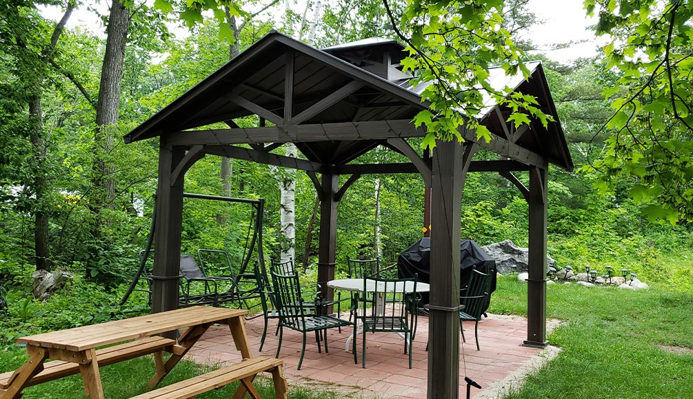 Gazebo and BBQ grill